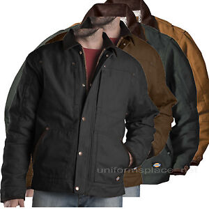 eb4537ae0 Image is loading Dickies-Jacket-Mens-Sanded-Duck-Sherpa-Lined-Jackets-