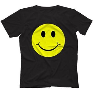 Acid-House-Smiley-Face-T-Shirt-100-Cotton-I-Love-Rave-Old-Festival