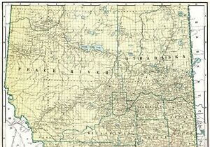 1947 Antique ALBERTA CANADA Map Poster Print Size Vintage Map of ...