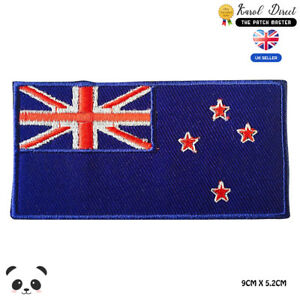 New-Zealand-National-Flag-Embroidered-Iron-On-Sew-On-Patch-Badge-For-Clothes-Etc