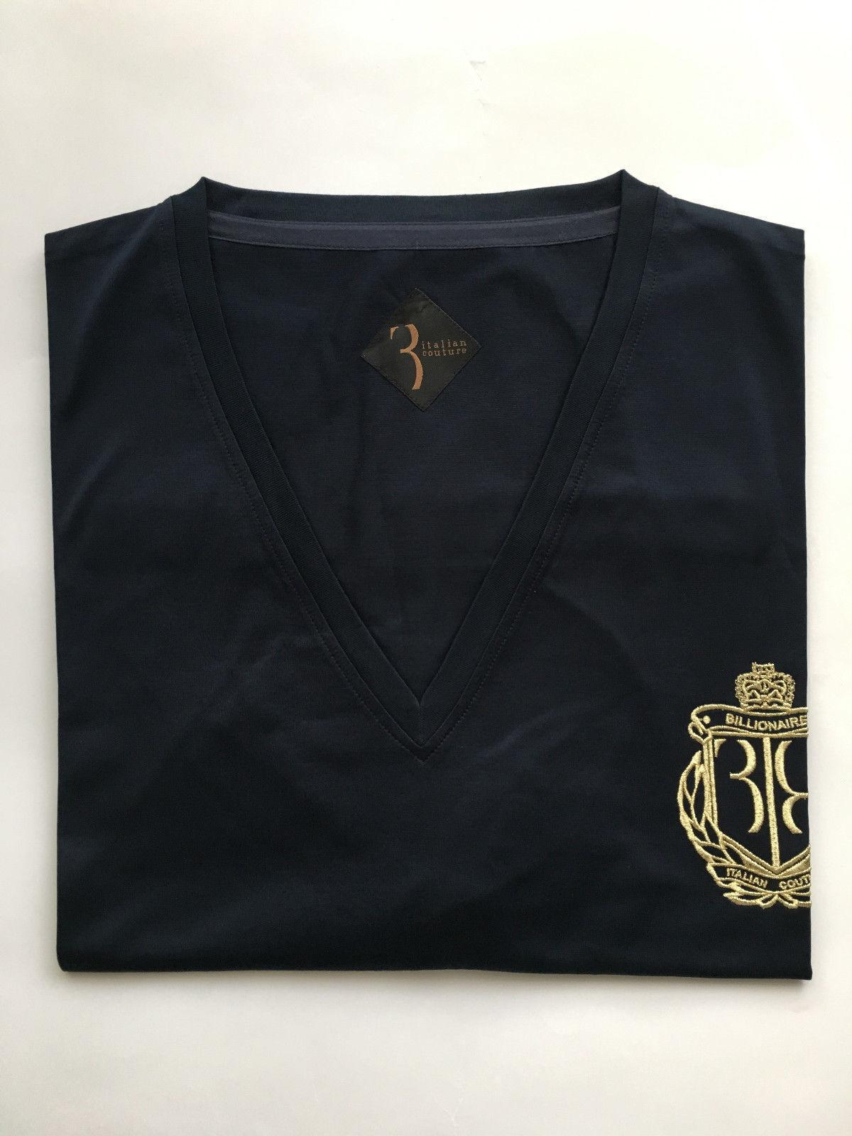 Billionaire Couture Men's T-Shirt Emblem color bluee Original 100% sizes  3XL,4XL