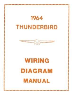 FORD 1964 Thunderbird Wiring Diagram Manual 64 | eBay