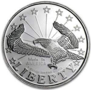 Coins: Us Coins & Paper Money Discreet 1 Ounce Silver Liberty Eagle 999,99 Quell Summer Thirst