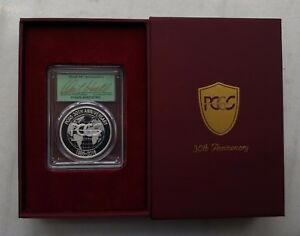 1986-2016 PCGS 30TH  Anniversary Commemorative Medal Signed by DAVID HALL