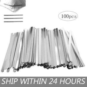 100Pcs Nose Bridge Strip DIY Face Aluminum Strip Shield Making Accessories