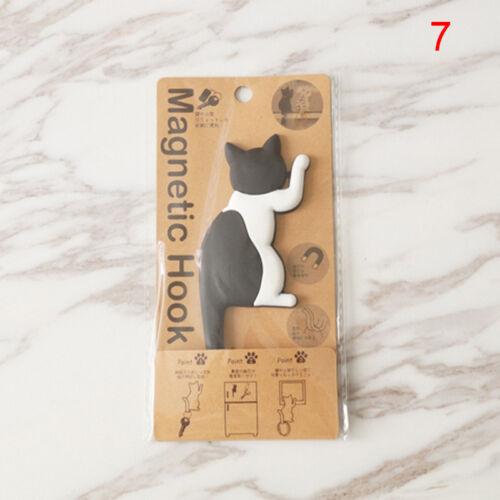 Cat Shape Magnetic Wall Mount Keys Hook Fridge Magnet Hanging Hook Decor