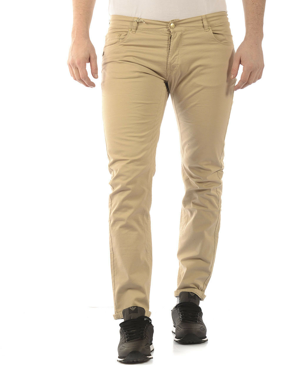 Pantaloni Daniele Alessandrini Jeans Trouser men Beige PJ4610TGL1003731 15