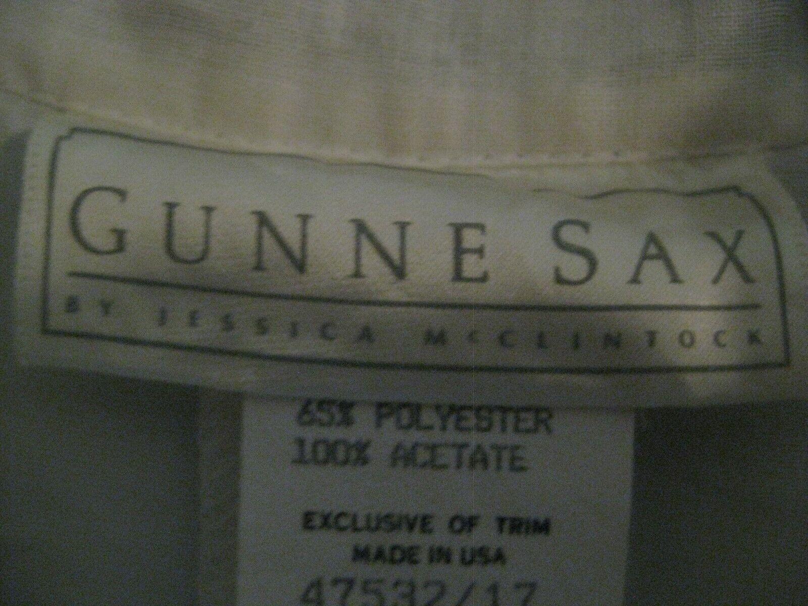 Gunne Sax White Dress Girls Size 12 Pre-Owned - image 11