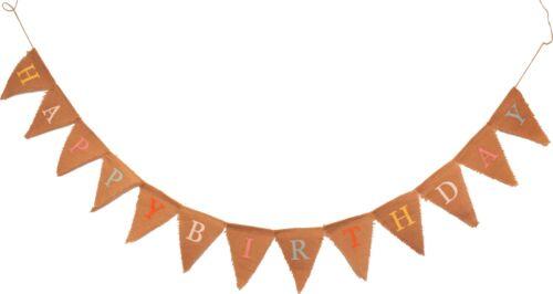 Coloré joyeux anniversaire partie Hesse pennnants Bunting 1,5 m