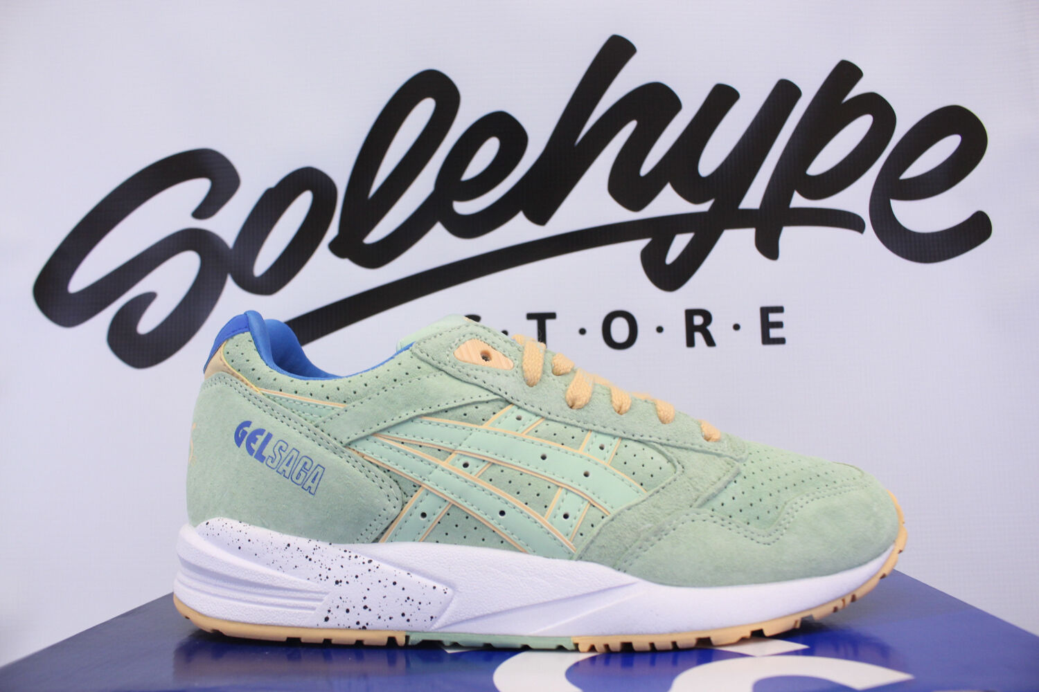 ASICS GEL SAGA SMOKE GREEN EASTER PACK H6A0L 7474 SZ 11.5