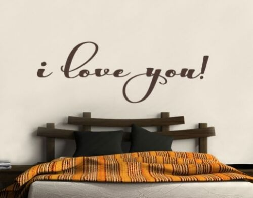 Mural chambre murale sticker I love you je t/'aime wal136