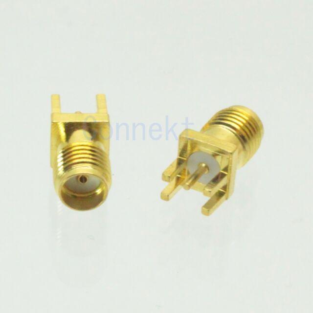 10pcs SMA female jack solder PCB clip edge mount RF connector