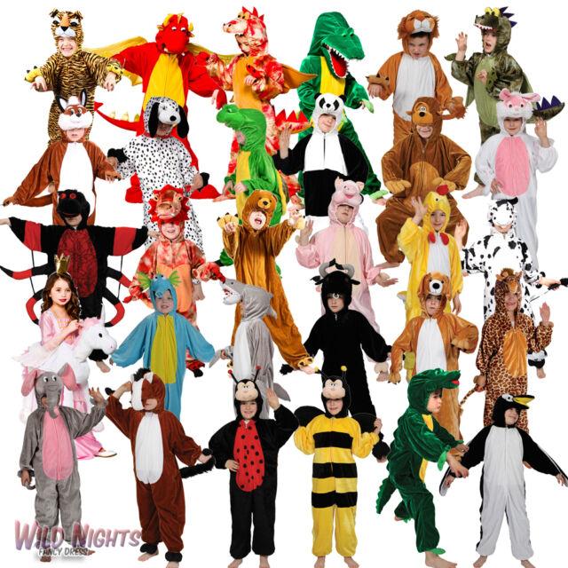 Childs Animal Costumes Zoo Farmyard Woodland Kids Fancy Dress Boys Girls Onesie  sc 1 st  eBay & Childs Kids Boys Girls Fancy Dress Costume Book Day African Jungle ...