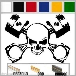 adesivo-sticker-decal-SKULL-PISTON-motorcycle-prespaziato-auto-moto-casco-13-cm