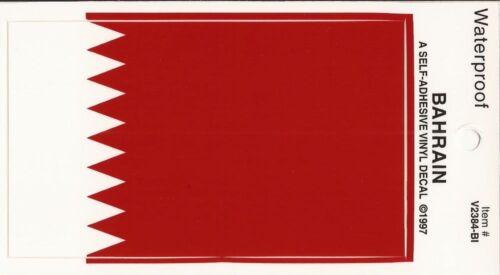 PACK of 25 Bahrain Vinyl Waterproof Flag Decals Bahrain decal stickers