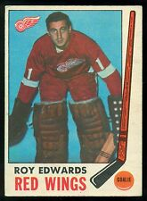 1969 70 OPC O PEE CHEE HOCKEY #56 ROY EDWARDS EX+ DETROIT RED WINGS CARD