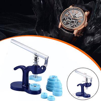 Gehäuseschließer Uhrmacher Einpresswerkzeug Deckelpresse 12 Druckplatten LO 02