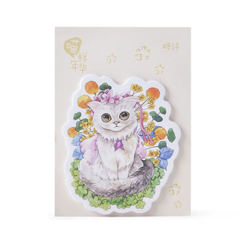 Kitten Cats Garden Flowers Cute Sticky Notes Pad Bookmark Memo Index Page Marker