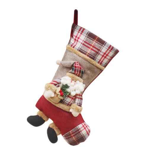 Sac Chaussette Ornement Père Noël Décor Bonbon Sapin Arbre Noël Enfant Cadeau NF