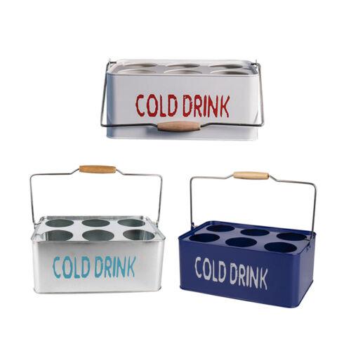 Beer Caddy Metal Beer Bottle Carrier 6-Pack Soda Drink Bottle Caddy Rack
