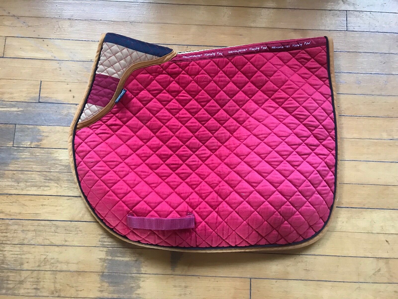 Rambo Horseware Cotton Quilted All Purpose Pad - Newmarket gold Whitney Stripe