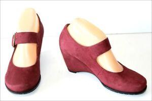 Bordeaux cinturini con Geox Lounge 37 Zeppa Double Shoes T Nobuk Leather IZZwf0