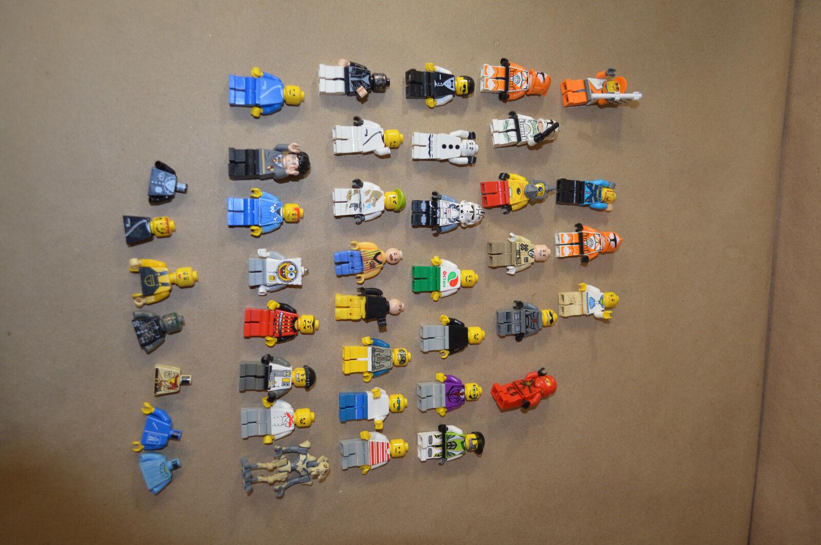 Lot mixte de 40 LEGO figures lot stars war and etc. Some Additional Parts  1830