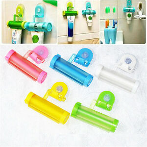 Colorful Plastic Rolling Tube.Squeezer Toothpaste Easy Dispenser Bathroom Hol RH