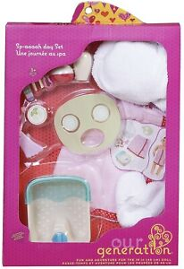 """Our Generation Sp-aaaah Day Set Spa Pampering Playset  clothes 18/"""" Girl Doll NEW"""