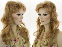 Glamorous 21 In Long Wavy Shag Hairstyle With Bangs Blonde Straight Wavy Wigs