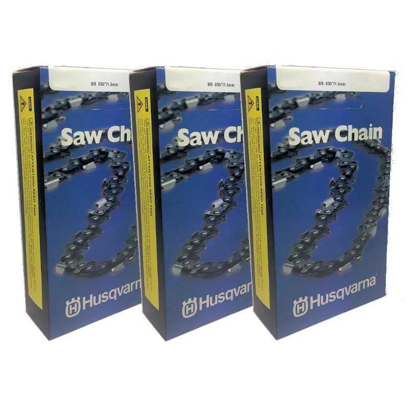 Conjunto de 3 Husqvarna Original Equipment Manufacturer 18  cadena H47-68 68DL 3 8 .050 501842668