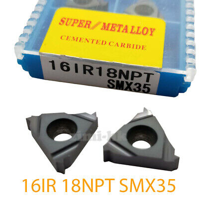 16ER 18NPT SMX35 Carbide Threading Inserts Universal type Cutting tool CNC 10P