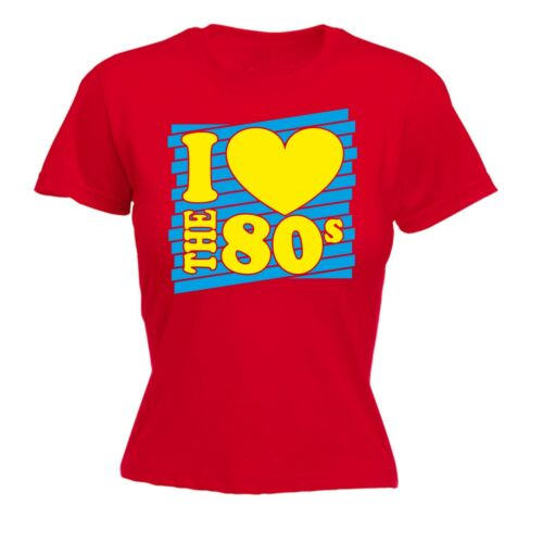 I Heart The 80s FITTED T-SHIRT Costume Retro Fancy Dress Disco  80/'s birthday