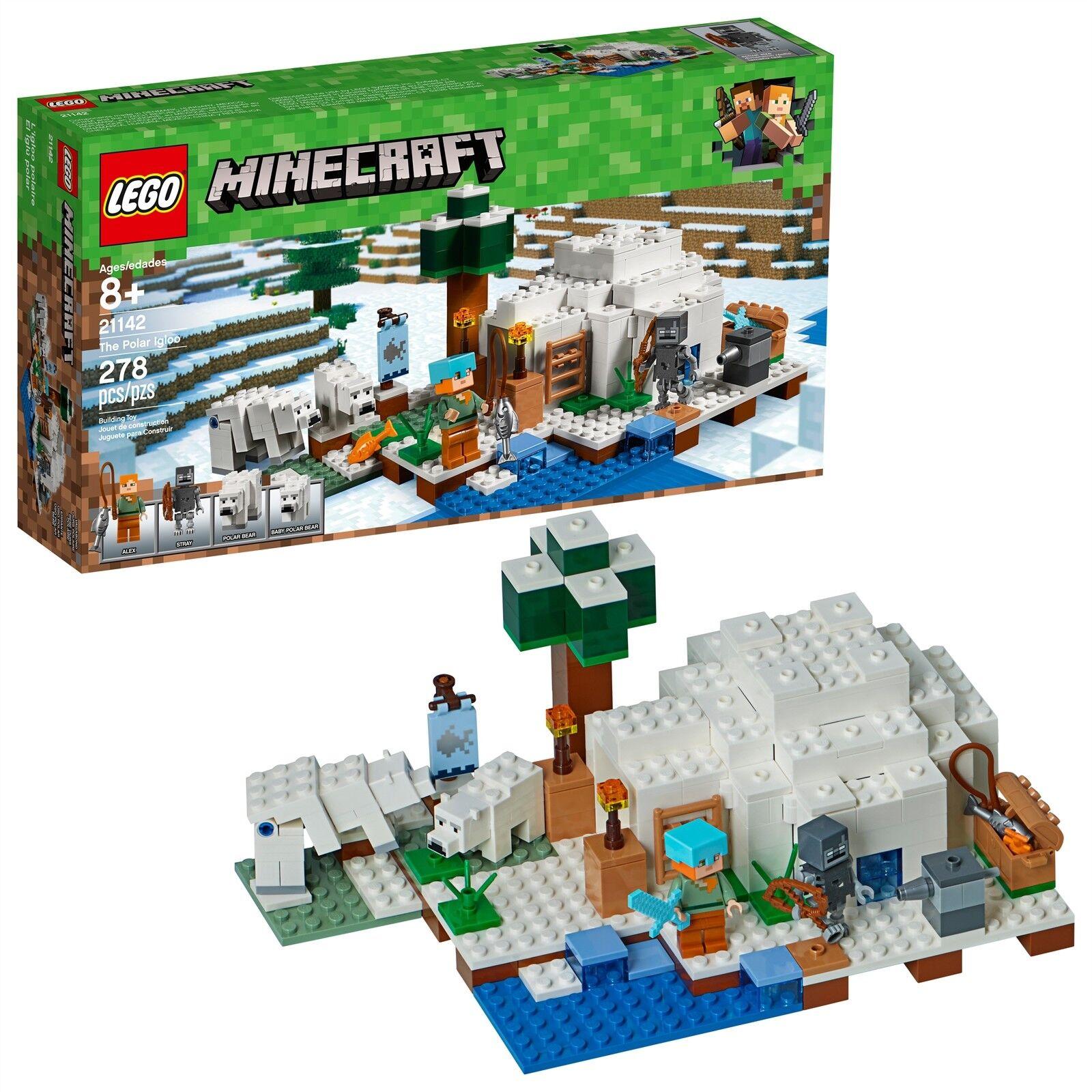 LEGO® Minecraft™ The Polar Igloo 21142 278 Pcs