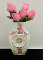 Rose Vase Clock With Alarm -