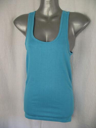 BNWT Ladies Sz 12 Aqua Blue Stretch Sleeveless Racer Back Singlet//Tank Top