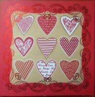 "Job lot 5 Kanban 8x8"" valentine card blanks no envelopes card making clearout"