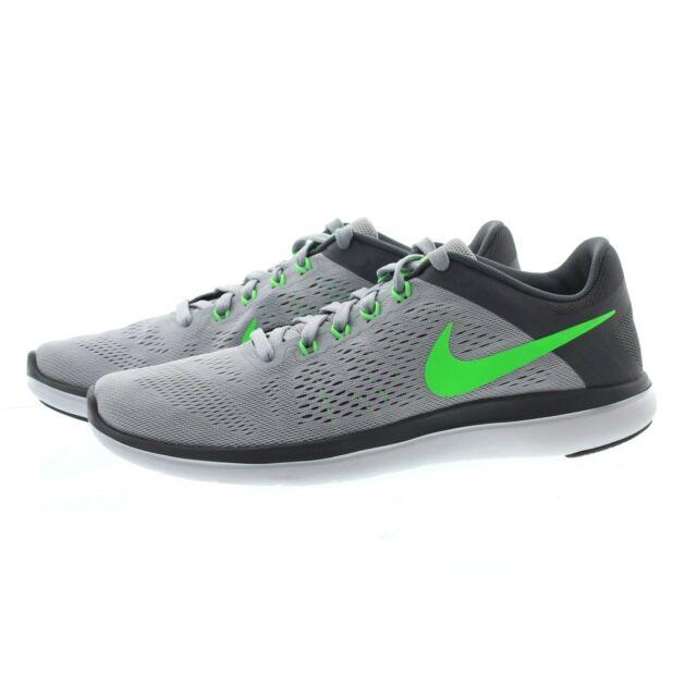 77710f4e27b3 Nike Men s Flex 2016 RN Grey Green White 830369-008 Multiple Sizes ...