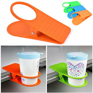 new creative office desk table drink water coffee mug clip on cup rh ebay co uk Coffee Cup Wall Holders Tree Coffee Cups Holder