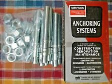 "Simpson WA75614 3//4/"" x 6 1//4/"" Wedge-All Carbon-Steel Wedge Anchors 10//pk"
