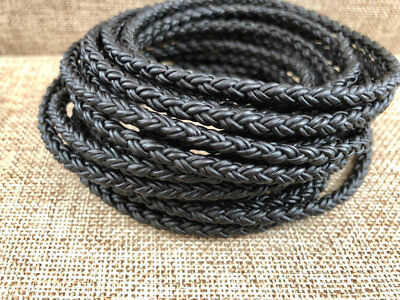 High Quality 8mm Light Brown Bolo Braided Leather Cord 8 Ply 2mm Premium Leather