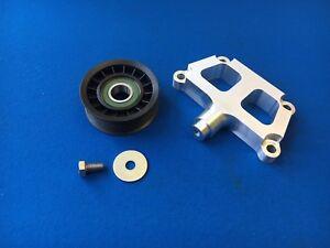 Ford-Zetec-Black-Top-Billet-Power-Steering-Delete-Bracket-and-Pulley-Kit