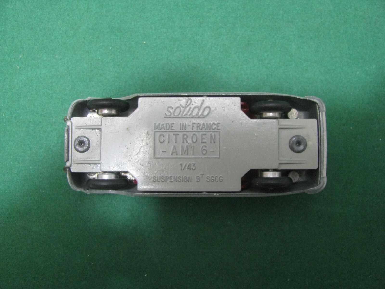 Vintage  -    CITROEN AMI 6   - 1 43  Solido Ref.114  serie 100 e230b4