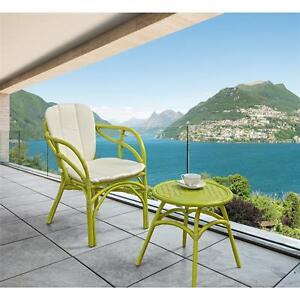 Salotto set poltrona tavolino vimini rattan da giardino esterno colorato salotti ebay - Salotto giardino rattan ...