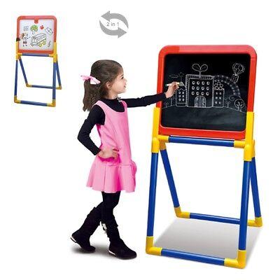 Unparteiisch 2in1 Maltafel Standtafel Staffelei Schreibtafel Tafel Stifte Spielzeug Kinder