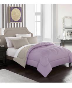 New Lavender King Size Comforter Set Reversible Bedding Sheets Bedspread Beige 784857828290 Ebay