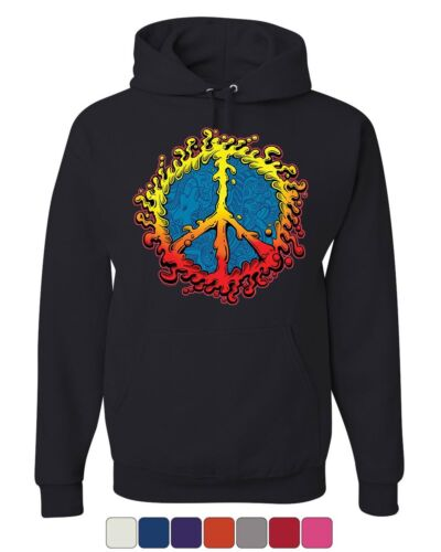 Peace Sign Ameoba Hoodie Happy Love Hippie Dream Joy Happiness Sweatshirt