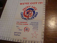 VINTAGE hacky sack paper: Kenncorp Pre Whamo HACKY SACK POSTER cool, folded