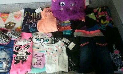 Girls size 7-8 Huge lot Mix outfit Lot/Justice/Child Place Bob Shoes 1/Fuzzy Bag