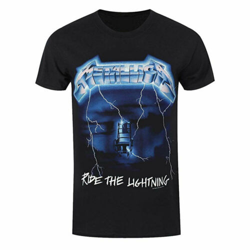 Official Metallica Ride The Lightning Tracks Rock Band T-Shirt